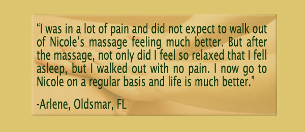 Testimonials for Clearwater, FL and Palm Harbor, FL Day Spa